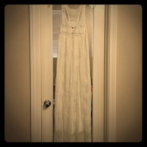 Dresses & Skirts - White, lace maxi dress.